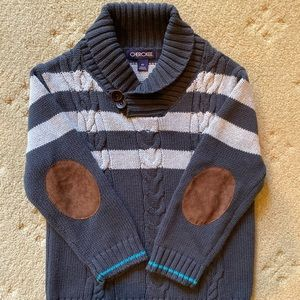 Boys Charcoal Grey Cherokee Knit Sweater